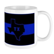 Thin Blue Line - Texas Mug
