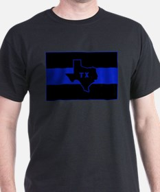 Thin Blue Line - Texas T-Shirt