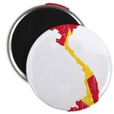 Vietnam Flag And Map Magnet