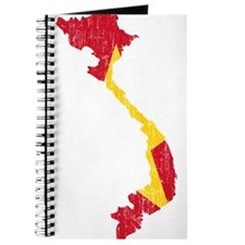 Vietnam Flag And Map Journal