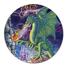 Dragon's Lair Round Car Magnet