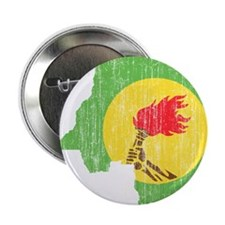 "Zaire Flag And Map 2.25"" Button"
