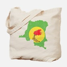 Zaire Flag And Map Tote Bag