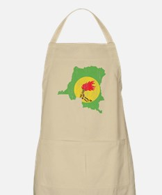 Zaire Flag And Map Apron
