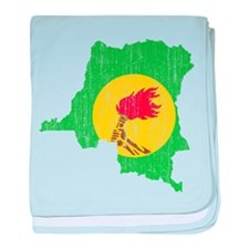 Zaire Flag And Map baby blanket