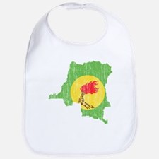 Zaire Flag And Map Bib