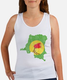 Zaire Flag And Map Women's Tank Top