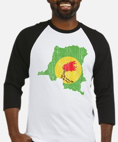 Zaire Flag And Map Baseball Jersey
