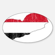 Yemen Flag And Map Decal