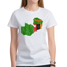 Zambia Flag And Map Tee