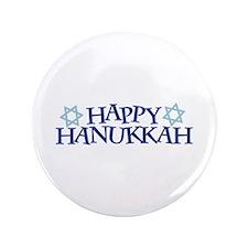 """Happy Hanukkah 3.5"""" Button"""
