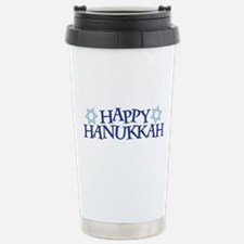 Happy Hanukkah Travel Mug