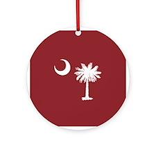 South Carolina Palmetto State Flag Ornament (Round