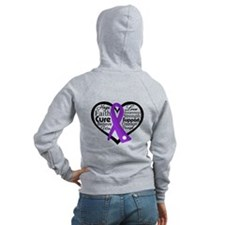 Words Heart Lupus Zip Hoody