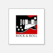"""Rock & Roll Square Sticker 3"""" x 3"""""""