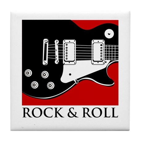 Rock & Roll Tile Coaster