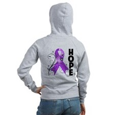 Flower Hope Ribbon Lupus Zip Hoody
