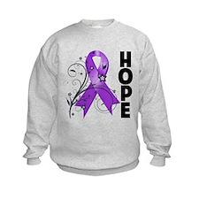 Flower Hope Ribbon Lupus Sweatshirt