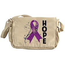 Flower Hope Ribbon Lupus Messenger Bag