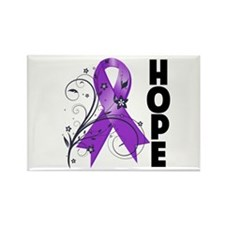 Flower Hope Ribbon Lupus Rectangle Magnet