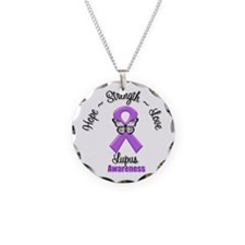 Hope Love Strength Lupus Necklace