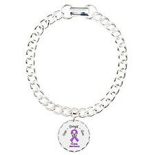 Hope Love Strength Lupus Charm Bracelet, One Charm
