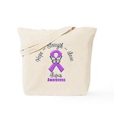 Hope Love Strength Lupus Tote Bag