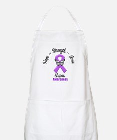 Hope Love Strength Lupus Apron