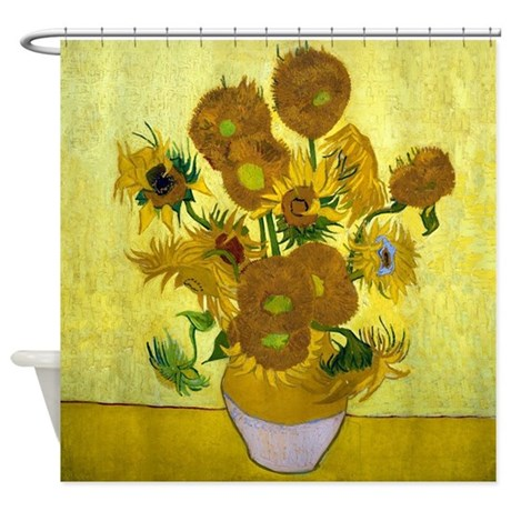 Van Gogh - 15 Sunflowers Shower Curtain