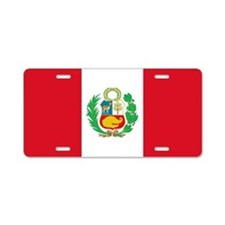 Flag of Peru Aluminum License Plate