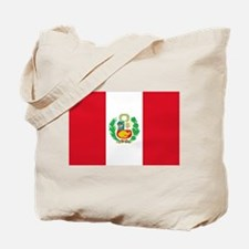 Flag of Peru Tote Bag