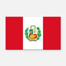 Flag of Peru Rectangle Car Magnet