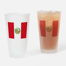 Flag of Peru Drinking Glass