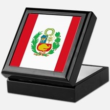 Flag of Peru Keepsake Box