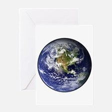 High Resolution EARTH From Space Greeting Card