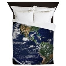 High Resolution EARTH From Space Queen Duvet