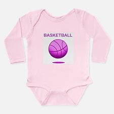 Basketball (E) Long Sleeve Infant Bodysuit