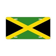 Jamaican Flag Aluminum License Plate