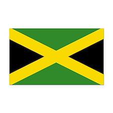 Jamaican Flag Rectangle Car Magnet