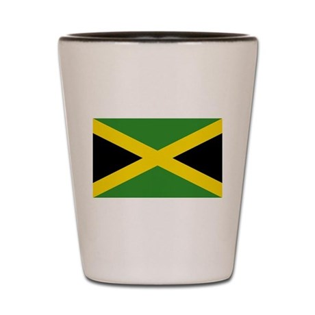 Jamaican Flag Shot Glass