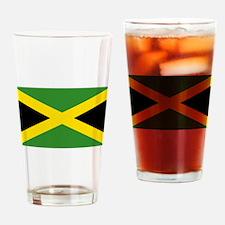 Jamaican Flag Drinking Glass