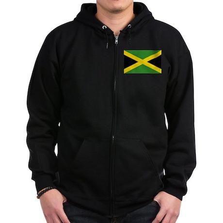 Jamaican Flag Zip Hoodie (dark)