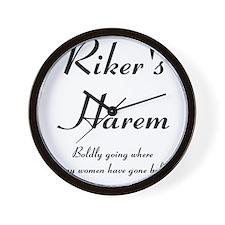 Riker's Harem Wall Clock