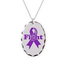 Fight Lupus Ribbon Necklace