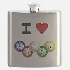 I LUV BINGO Flask