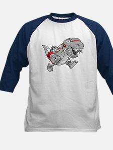Dinosaur Robot Kids Baseball Jersey