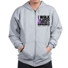 I Walk For Lupus Awareness Zip Hoody
