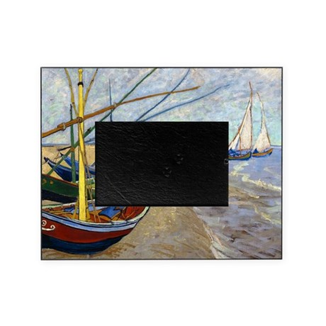 Van gogh fishing boats picture frame by designdivagifts2 for Fishing picture frame