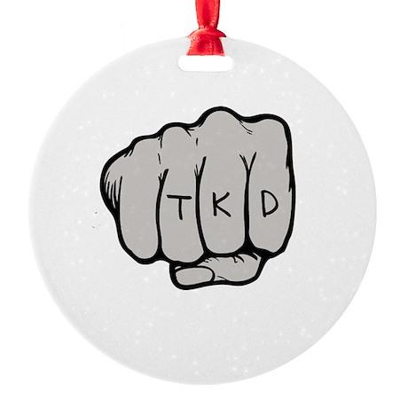Martial Arts TKD Fist Round Ornament