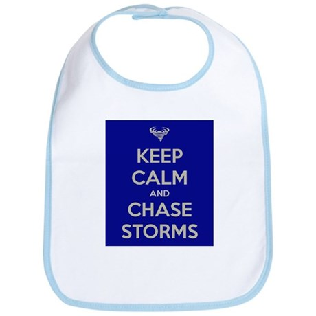 Keep Calm and Chase Storms Bib